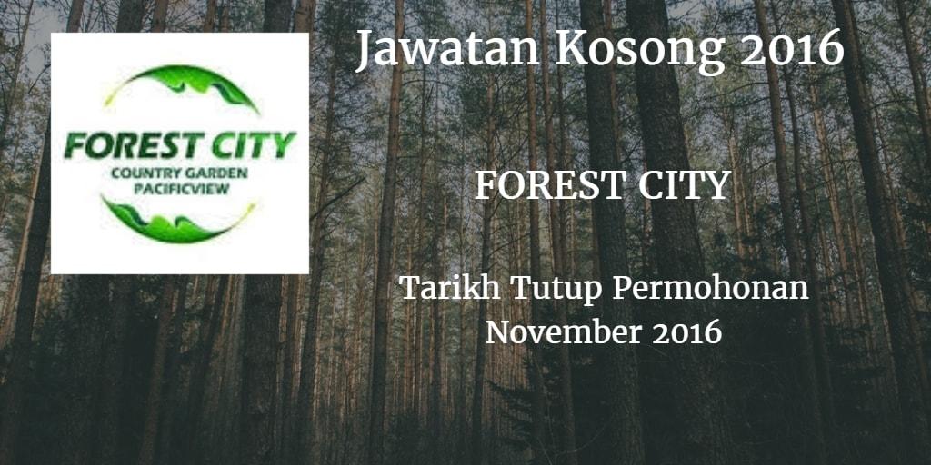 Jawatan Kosong FOREST CITY November 2016