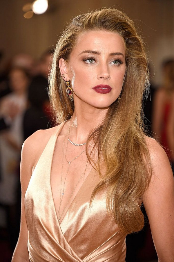 Amber Heard MET gala 2016 dress makeup