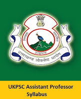 UKPSC Assistant Professor Syllabus