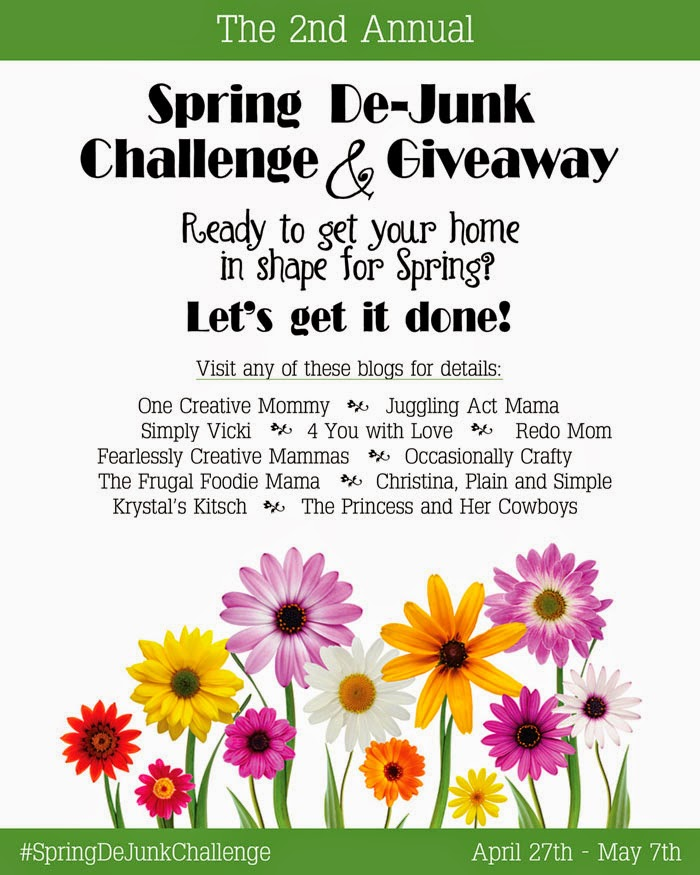 Ready to tackle that annual spring cleaning, but need a little motivation to get started? Join us in this year's Spring De-Junk Challenge & Giveaway & you could win a $210 Amazon gift card.