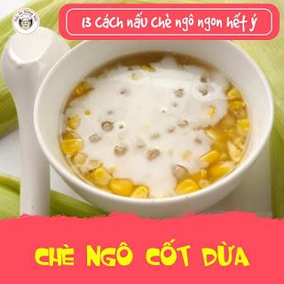 chè bắp cốt dừa