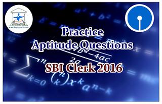 SBI Clerk 2016- Practice Aptitude Questions (Data Interpretation)