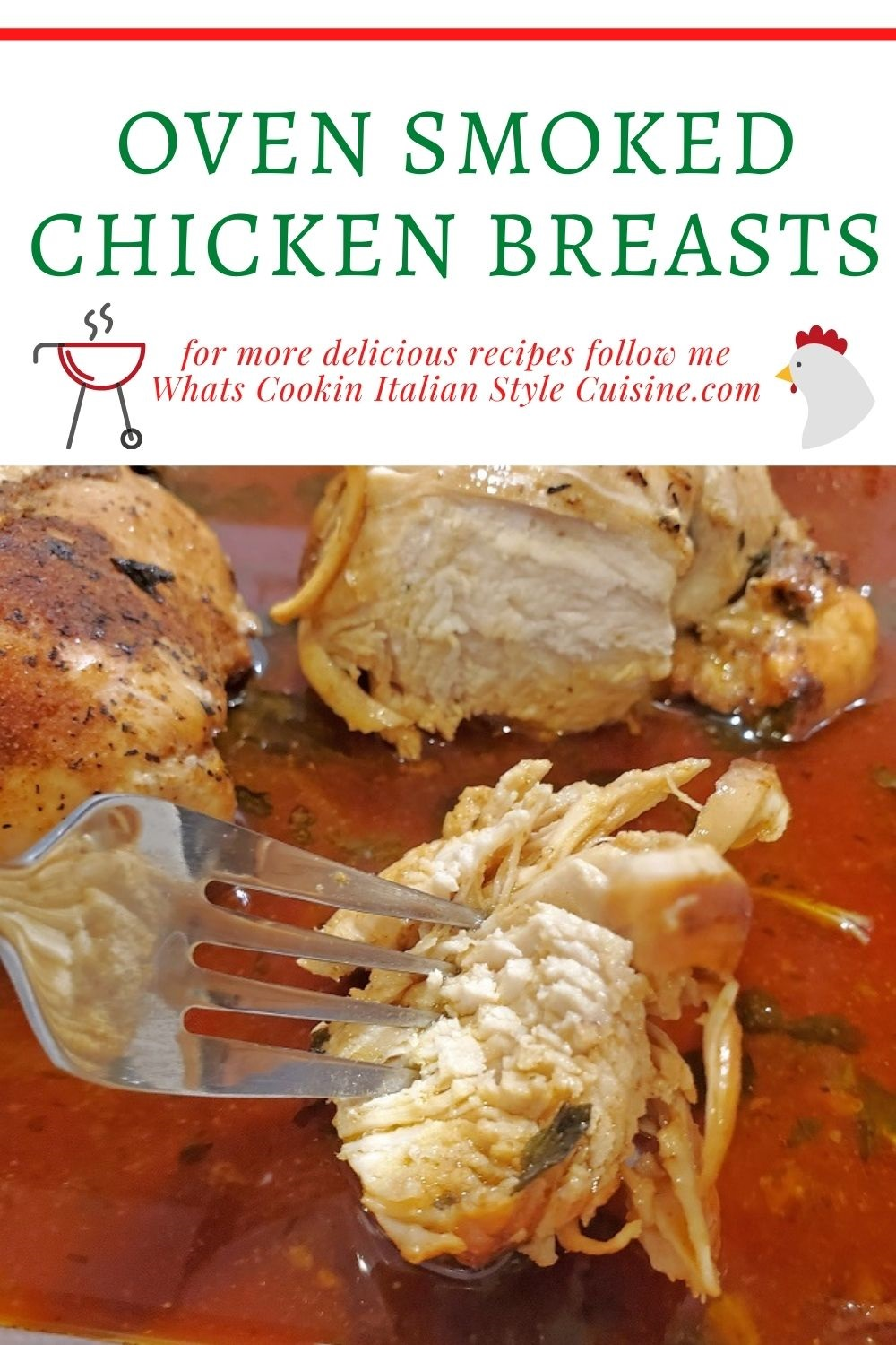 this is a pin for later on how to smoke chicken breasts indoors in the oven