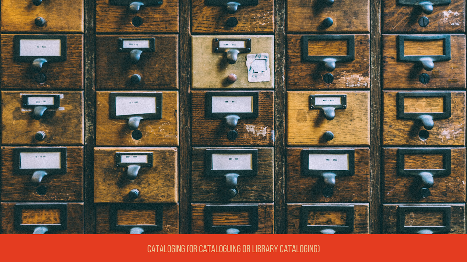 Cataloging or Cataloguing or Library Cataloging