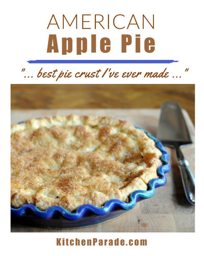 American Apple Pie ♥ KitchenParade.com, homemade apple pie with a double crust, an American classic.