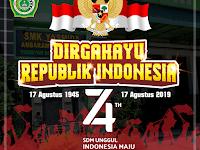 Desain Ucapan Dirgahayu Republik Indonesia Ke-74 Tahun