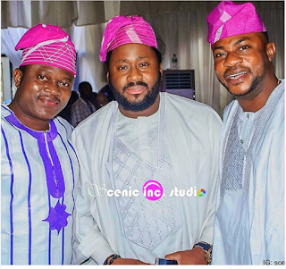 Desmond Elliot In Lovely Native Attire With Actors Muyiwa Ademola & Odunlade