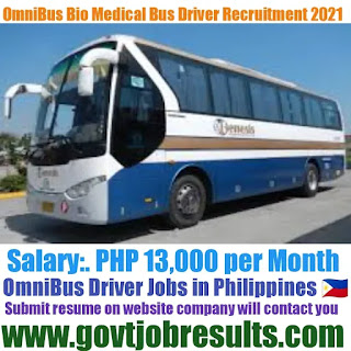 OmniBus BioMedical Bus Driver Recruitment 2021