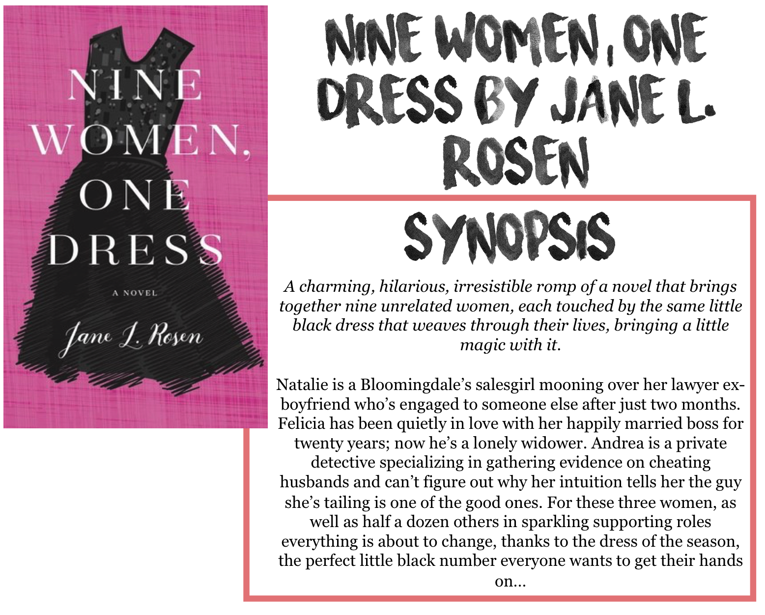 The dress jane l rosen - This Was A Very Different Book Than What I Am Used To Reading And Not Necessarily In A Bad Way I Was Expecting A Sort Of A The Sisterhood Of The Traveling
