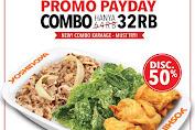 Yoshinoya Promo Payday Combo Diskon 50% Hanya Rp.32Ribu Periode 24-29 Februari 2020