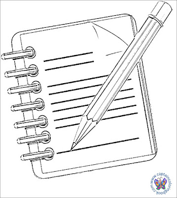 Notepad coloring page