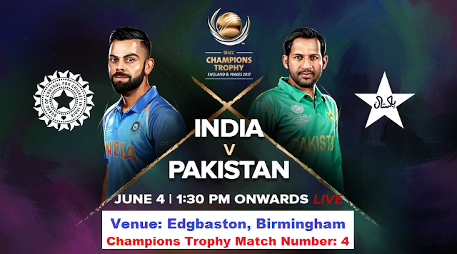 ICC Champions Trophy 2017 India vs Pakistan Match 4th June