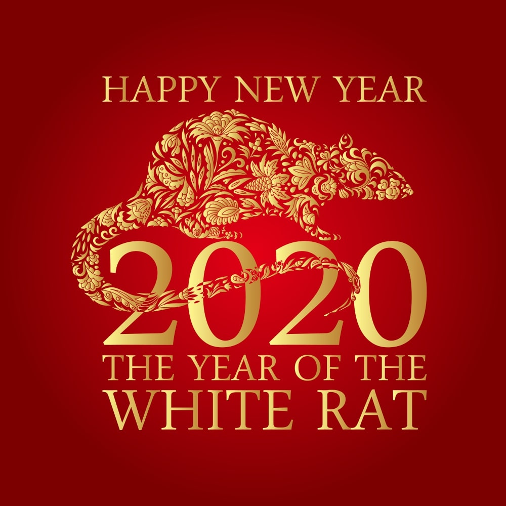 It is a graphic of Universal Chinese New Year 2020 Images Free