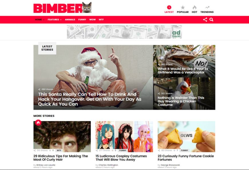 Bimber WordPress Theme Free Download With Licence