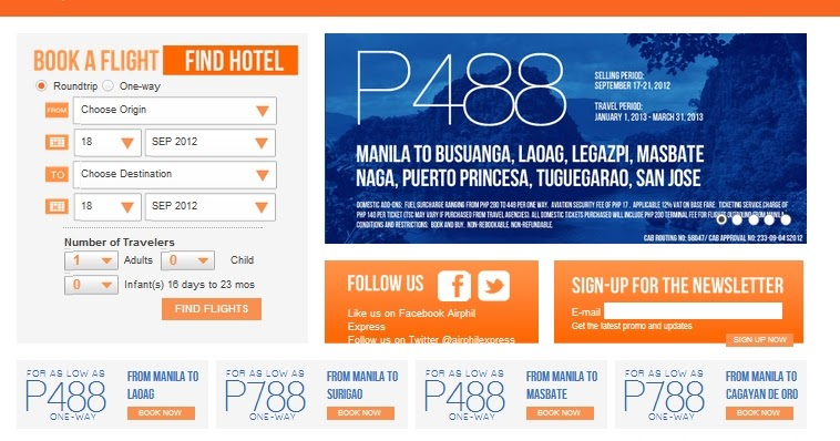 Airphil Express Revamps Booking Page - Added Seven-Eleven