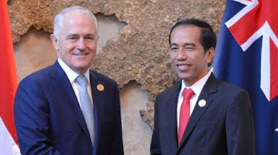 Australian Prime Minister Malcolm Turnbull and Indonesian President Joko Widodo