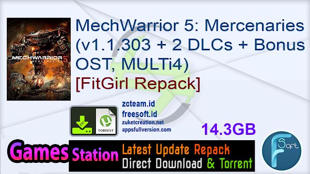 MechWarrior 5: Mercenaries (v1.1.303 + 2 DLCs + Bonus OST, MULTi4) [FitGirl Repack, Selective Download – from 12.5 GB]