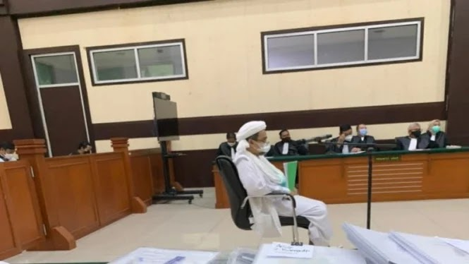 Habib Rizieq Protes: Giliran Jaksa Aja Bisa Ditayangkan, Saya Eksepsi Tidak!