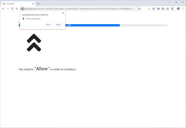Pushwelcome.com pop-ups