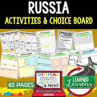 Russia Geography Activities, World Geography Graphic Organizers, World Geography Digital Interactive Notebook, World Geography Summer School, World Geography Google Activities