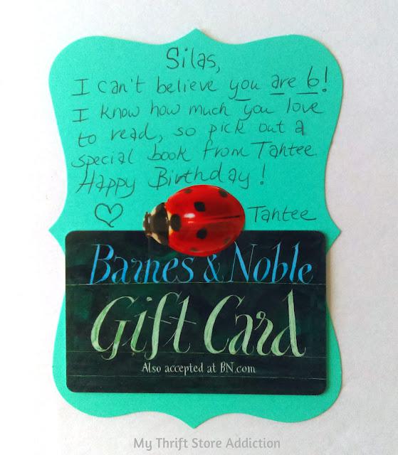 Birthday badge gift card holder