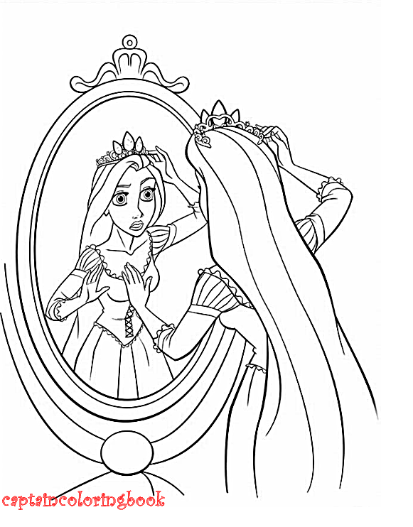 Disney Tangled Printable Coloring Page