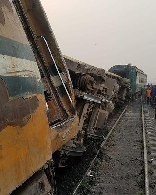 Victims Remain Trapped as Train Derails in Agege, Lagos .