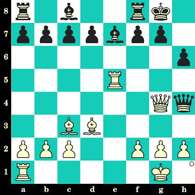 Les Blancs jouent et matent en 2 coups - Posch vs Derr, Vienne, 1958