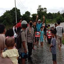 Kapolsek Pattallassang, Lakukan Pemantauan Wilayah Terendam Banjir