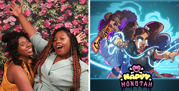 Tiana and Nia Scott, creators of Happy Monstah