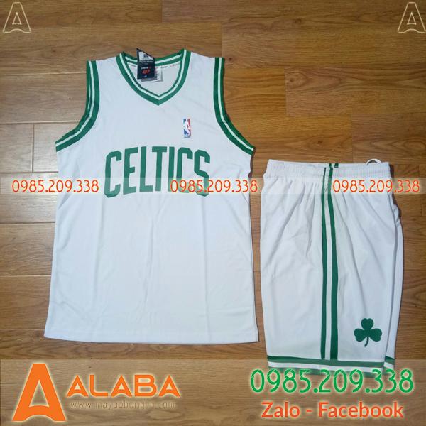 Áo bóng rổ Celtics màu trắng đẹp