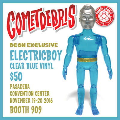 Designer Con 2016 Exclusive Clear Blue Electricboy Vinyl Figure by Cometdebris