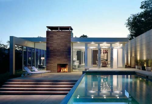Modern glass house design residential project lists by for Casa moderna light