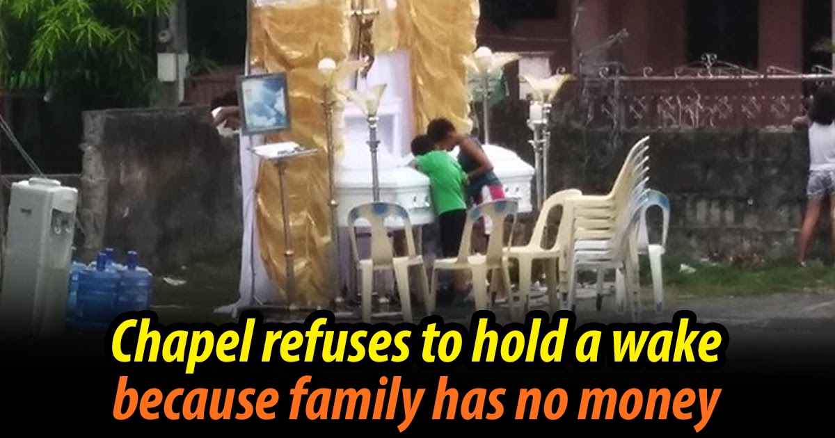 Family holds wake in basketball court because chapel refuses because family has no money