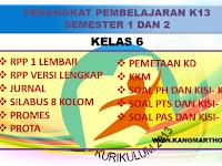 Perangkat Pembelajaran K13 Kelas 6 SD / MI Lengkap Terbaru