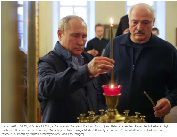Putin has backed Belarus's ally Cash, warm words, during talks on the crisis