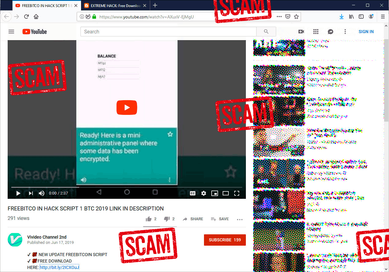 New Bitcoin Scam Trying To Fool YouTubers