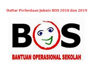 telah resmi diterbitkan oleh Kemeterian Pendidikan dan Kebudayaan Daftar Perbedaan Juknis BOS 2018 dengan 2019
