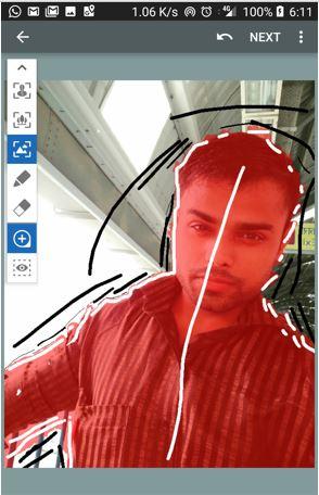 Background blur tool app autofoucs