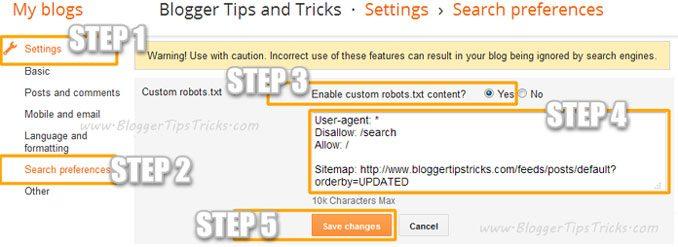 Cara Menambahkan File Robots.txt Kustom Di Blogger