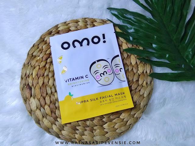 Review OMO! Cupra Silk Facial Mask - Vitamin C