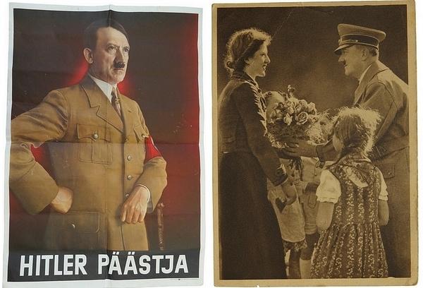 Affiche et photo d'Hitler - photo du site web Espenlaub Militaria
