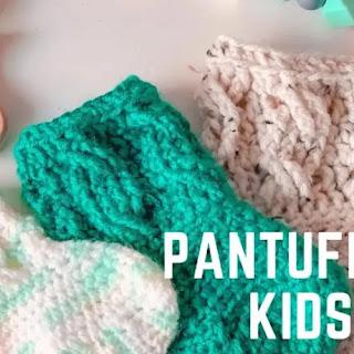 Pantuflas Niños a Crochet