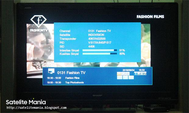 Daftar Satelit yang Menyiarkan Channel Fashion TV