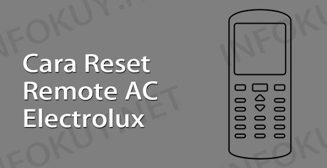 cara reset remote ac electrolux