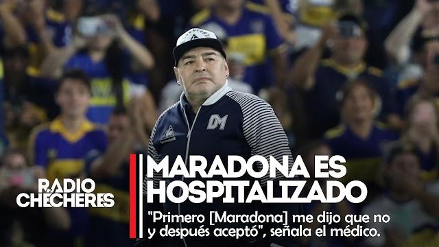 Maradona es hospitalizado en #Argentina