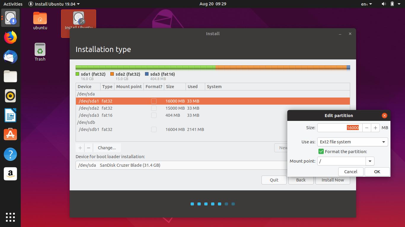 Ubuntu Buzz !: Dualboot Ubuntu 19 04 and Debian 10 on a 32GB