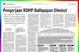 The RDMP of Balikpapan is Accelerated