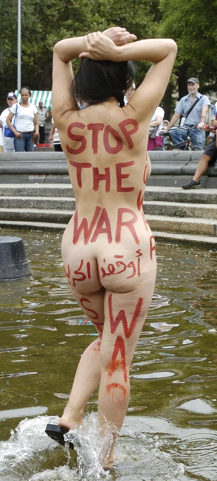Hala faisal nude 'Stop the War'