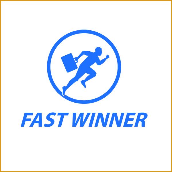 thiet ke logo fast winner